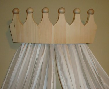 Pine Bed Crown Valance/Canopy for Girls Room