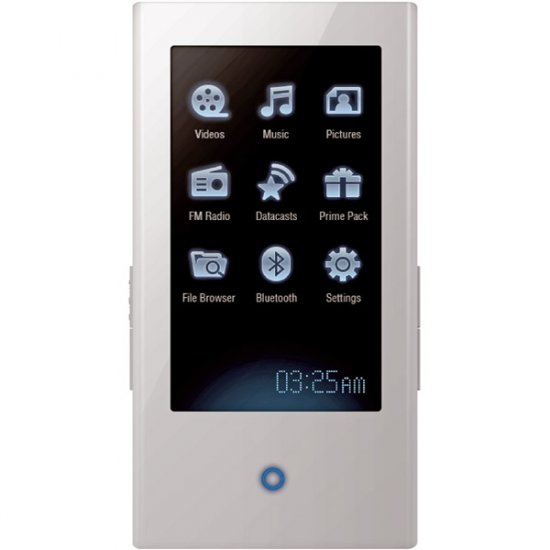 Samsung YP-P2JAW White 4GB P2 Widescreen Touch Screen MP3 And Video Player
