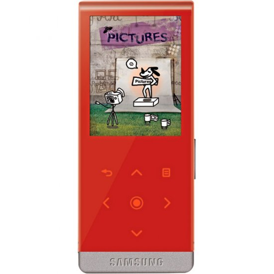Samsung YP-T10JAR Red 4GB T10 Slim Multimedia MP3 Player