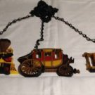 Home Interior Plaques Set  of 3 Train, Stagecoach, Trolly with chain