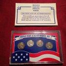 World War II Silver Nickel Set in Sealed Case