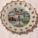 Idaho Gold Trim Souvenir Collector Wall Plate