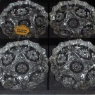 4 Anchor Hocking Star Of David Ashtrays