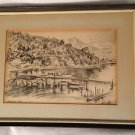 Alec Stern Sausalito Cove Etching