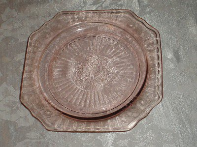 Anchor Hocking Mayfair Pink Glass Plate