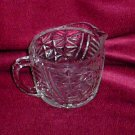 Clear Glass Stars and Bars Dairy Creamer