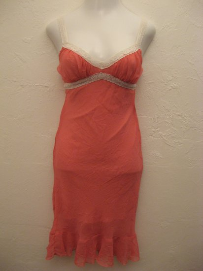 Trendy Baby Pink Spaghetti Strap Dress with Lace Lining - Wet Seal (Small)
