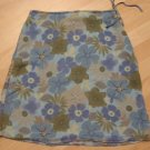 Blue, Green, Yellow & Tan Floral Print Sheer Layered Skirt - Old Navy (Size 4, Small)