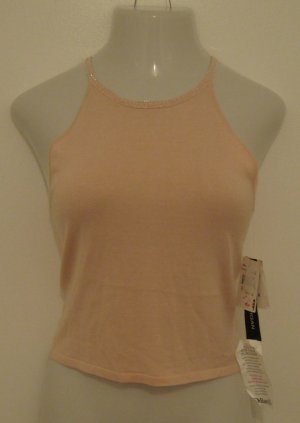 Beautiful Light Pink Spaghetti Strap Top with Beaded Accents at Neckline - Donna Morgan NWT (Size 8)