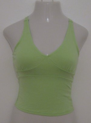 Sexy Bright Green Low V-Neck Racer Back Style Tank Top - Energie (Medium)