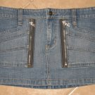 "Trendy 6 Pocket Denim Blue Jean Mini Skirt - Guess Jeans (Size 5, 26"" Waist) NWOT"