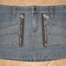 "Trendy 6 Pocket Denim Blue Jean Mini Skirt - Guess Jeans (Size 5, 26"" Waist) NWOT"