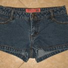 Dark Denim Blue Jean Mini Shorts with Double Buttons - Mossimo Mossissue (Size 3, Extra Small)