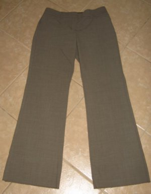 4 Pocket Brownish Gray Career Flare Pants - Express Design Studio (Size 2/S)