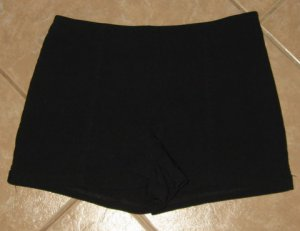 Sexy Black Mini Shorts with Zip Down Left Side - Express World Brand Stretch (Size 1/2)