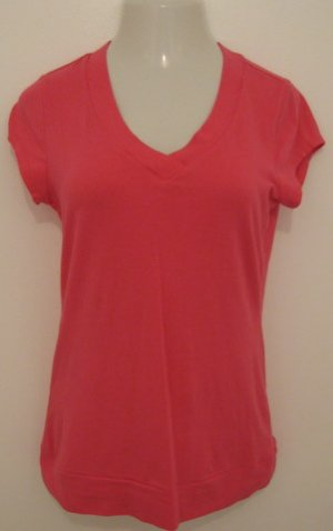 Hot Pink Short Sleeve V-Neck Top - SO (Extra Large)