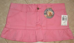 Trendy Dark Pink 4 Pocket Mini Skirt with Frilled Base - Paris Blues (Size 17) New With Tags