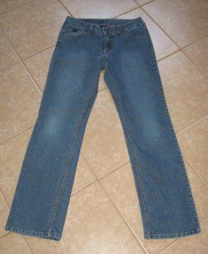 Medium Blue Denim Wash Bootcut 5 Pocket Jeans - Fubu Classics (Size 9/10)