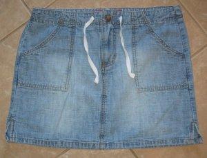 Light 2 Pocket Blue Wash Denim Jeans Skirt with Drawstring - Outlooks (Size 5)