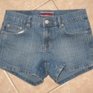 Medium Blue Wash Denim 5 Pocket Jean Shorts - Z. Cavaricci (Size 5)