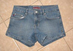 Medium Blue Wash Denim 5 Pocket Jean Shorts - Z. Cavaricci (Size 5)