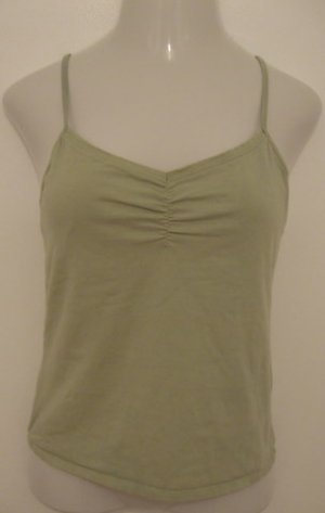 Light Green V-Neck Spaghetti Strap Top with Built in Bra - La Cabana (Extra Large)