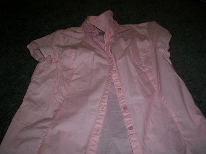 Women's Dress Shirt size L by Langents