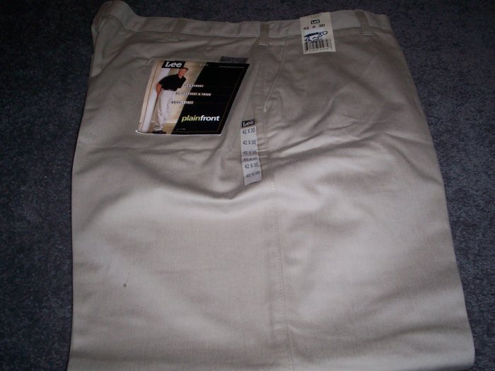 Men's Lee Khaki Slacks size 42X30 NWT