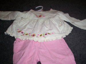 Toddler's Mon Petit Outfit Shirt and Pants 18 months