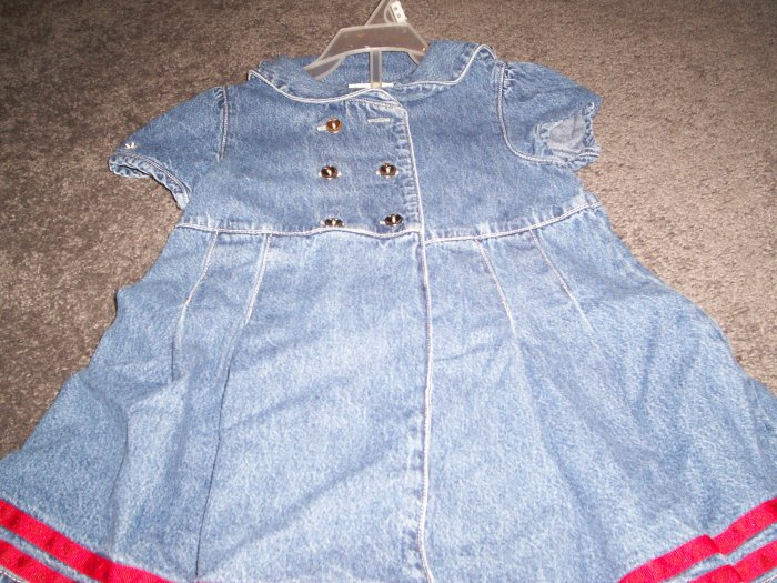 Faded Glory Toddler 3T Jean Dress