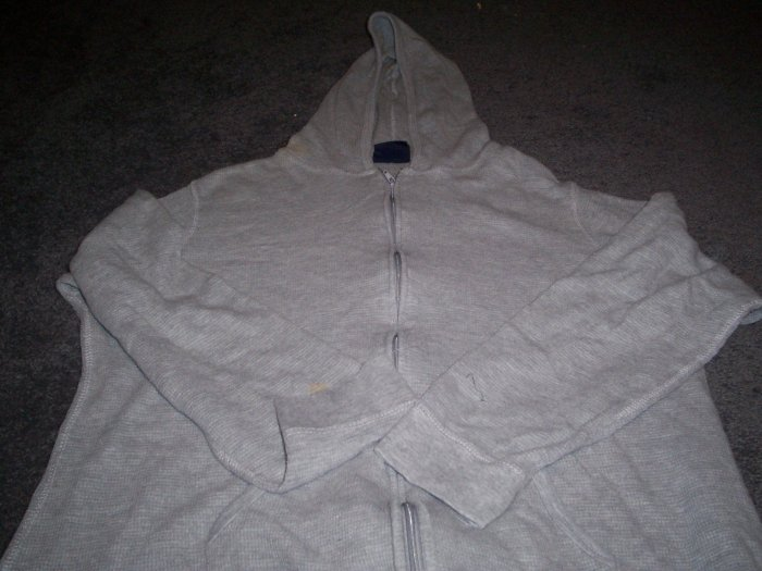 Zippered Hooded Sweat Shirt Size 1X