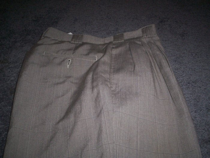 Men's Identity Itialian Brown Slacks Size 32m