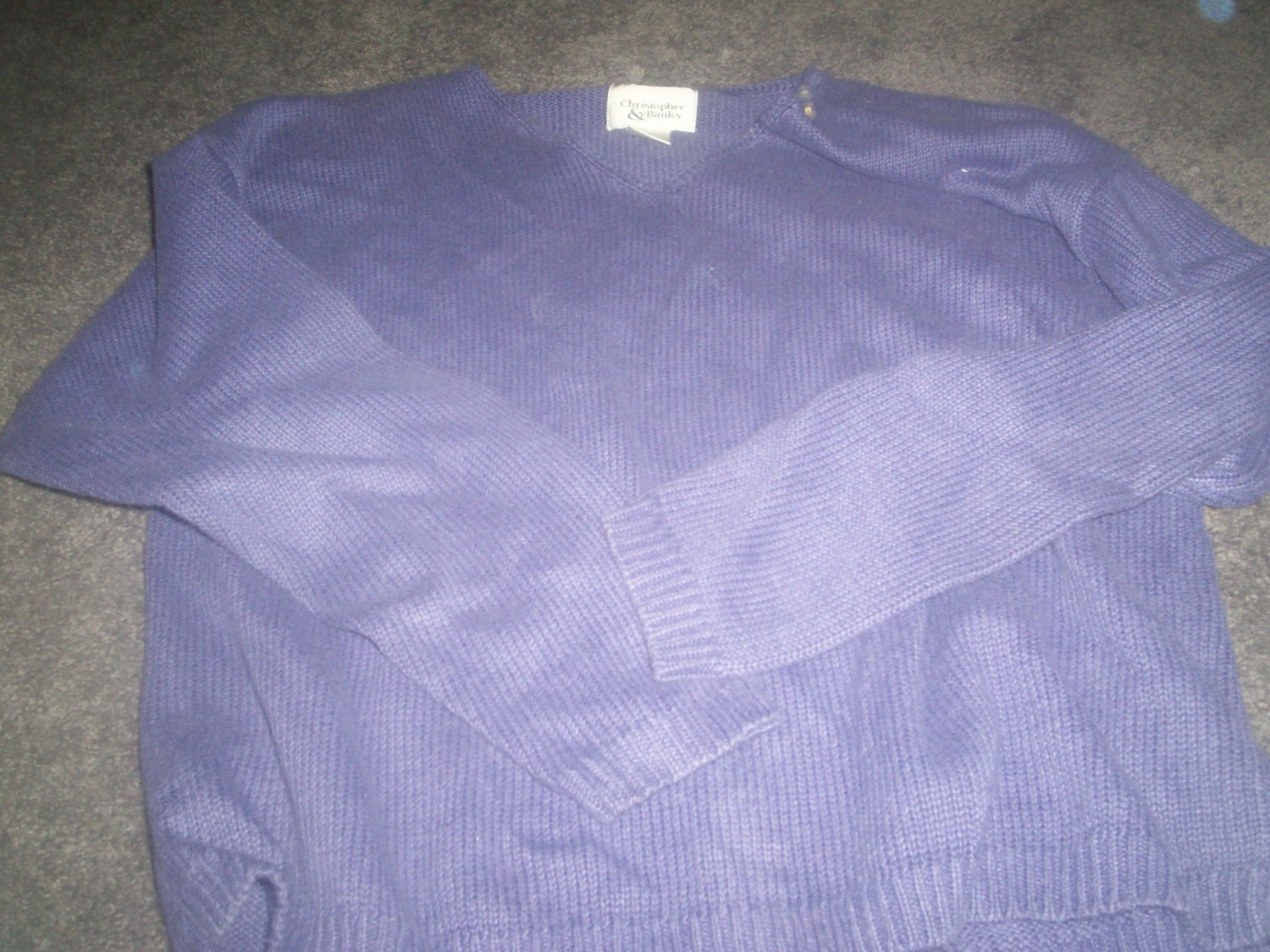 Women's Purple Christopher Banks Sweater size M