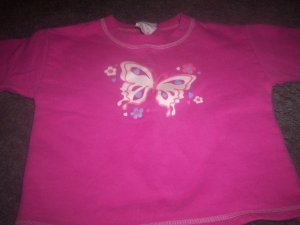 Girls 3T Pink Sweat Shirt by Hanes