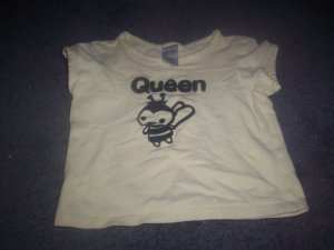 Girl's 3T Yellow Queen Bee Old Navy Top size 3T