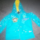Girls's Blue Hooded Zippered Sweat Shirt size 4T Bobby Jack Girl's