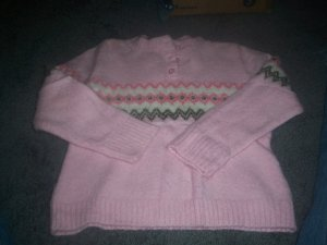 Girl's Pnk 3 Button Neck Sweater by Arizona size 5