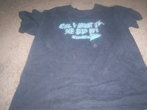 Boy's Blue Funny Saying Tee-shirt size size 8/10