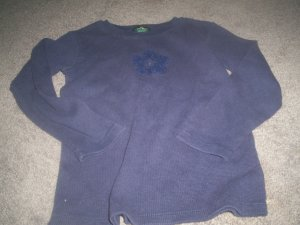 Girls's Dark Blue Long Sleeved Shirt size 8 By The Children's Place