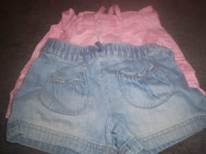 Girl's Shorts 2 Pair Size 4T Faded Glory