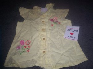 Girl's Size 4T Sleeveless Shirt by Young Hearts NWT