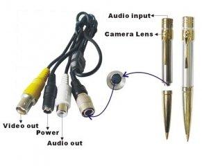 Mini Wired Spy Audio Camera & Pen