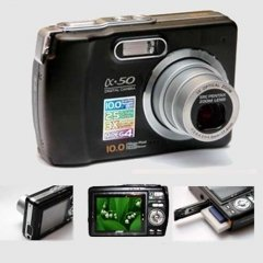Digital Camera, Optical Zoom 10M Pixel CCD Sensor, 2.5-inch LCD