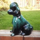 "Blue Mountain Pottery 8 "" Poodle Vintage green/black"