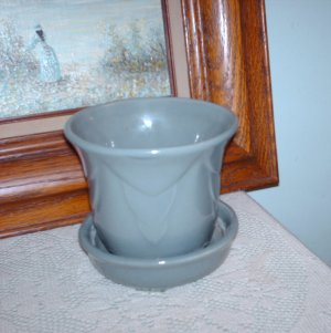 Beauce Attached Saucer and Planter Beauceware Vintage Pottery