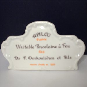 Apilco France Porcelain Store Sign French Chef Tableware