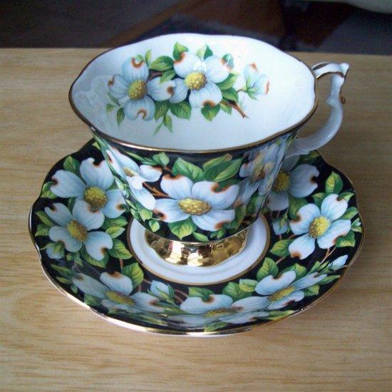 Royal Albert England Provincial Dogwood Bone China Tea Cup and Saucer