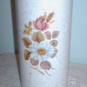 BMP Utensil Holder Blue Mountain Pottery Country Rose Collection