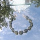 Rhyolite Oval Dark Green Bracelet   #1010