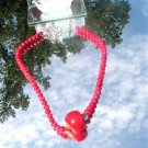 Natural Red Coral Bead Necklace #1016